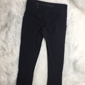 Lululemon Inspire crop leggings black sz 4